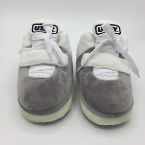 3d1f462afccb06 Image is loading Yeezy-Uzzy-Light-Show-White-Sneaker-Slippers-Plush-