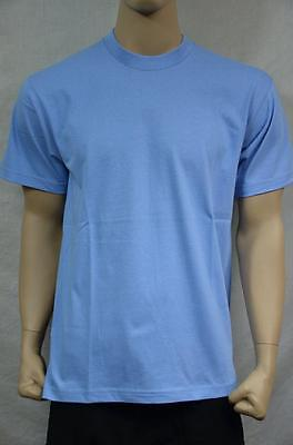 3 NEW PRO5 SUPER HEAVY WEIGHT T-SHIRT TURQUOISE TEE PLAIN BLANK COTTON S-7XL