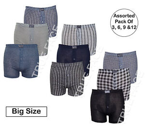 New-Men-Big-Sizes-Classic-Sports-Assorted-Button-Fly-Shorts-Trunks-Underwear