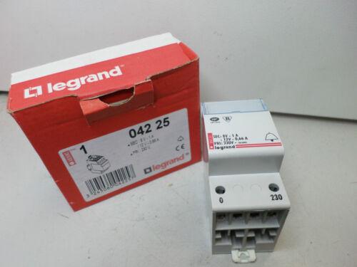 BELL TRANSFORMER LE GRAND 230V Prim Dual Out 8V and 12V DIN MOUNT 042 25