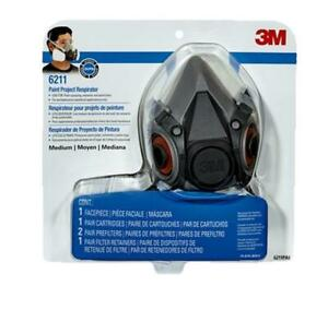 3m Paint Respirator R6211 Medium Safety Mask Reusable