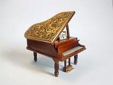 PIANO en Madera con incrustaciones de Oro, Artesania, Decoración, Joyas