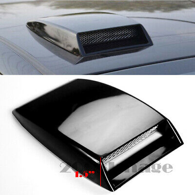 """10/"""" x 7.25/"""" Front Air Intake ABS Unpainted Black Hood Scoop Vent For Dodge"""