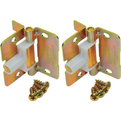 "10-Johnson Hardware Brass Finish BiFold Door 2 1//4/"" Spring Hinge 2//Pk 1703PPK2"