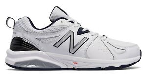 8f53a14af3 Details about New Balance MX857WN2 Men's 857v2 White Leather Trainer  Everyday Training Shoes