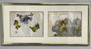 """Bedknobs & Broomsticks 1971 Disney Original Production Cel Cel's Framed 38""""x18"""""""