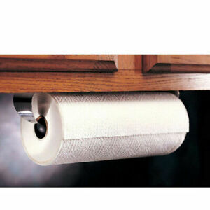 Paper Towel Holder Under Cabinet Wall Mount Stainless Steel Rack Kitchen