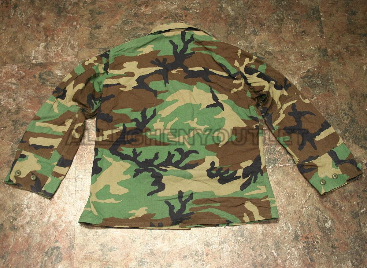 US Military ARMY Cotton Ripstop BDU FIELD JACKET COAT Woodland MEDIUM S VCG