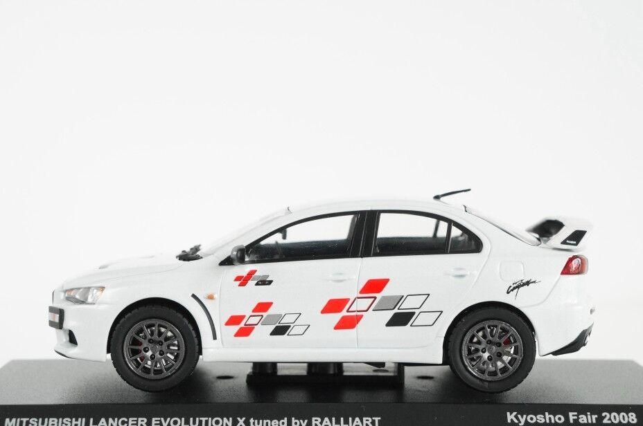 Kyosho 1 43 Mitsubishi Lancer Evolution X sintonizado por Ralliart biancao Perla Maruei