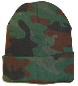d9bea2c10c0b7 Image is loading WOODLAND-CAMO-CAMOUFLAGE-BEANIE-HAT-hunting-warm-winter-