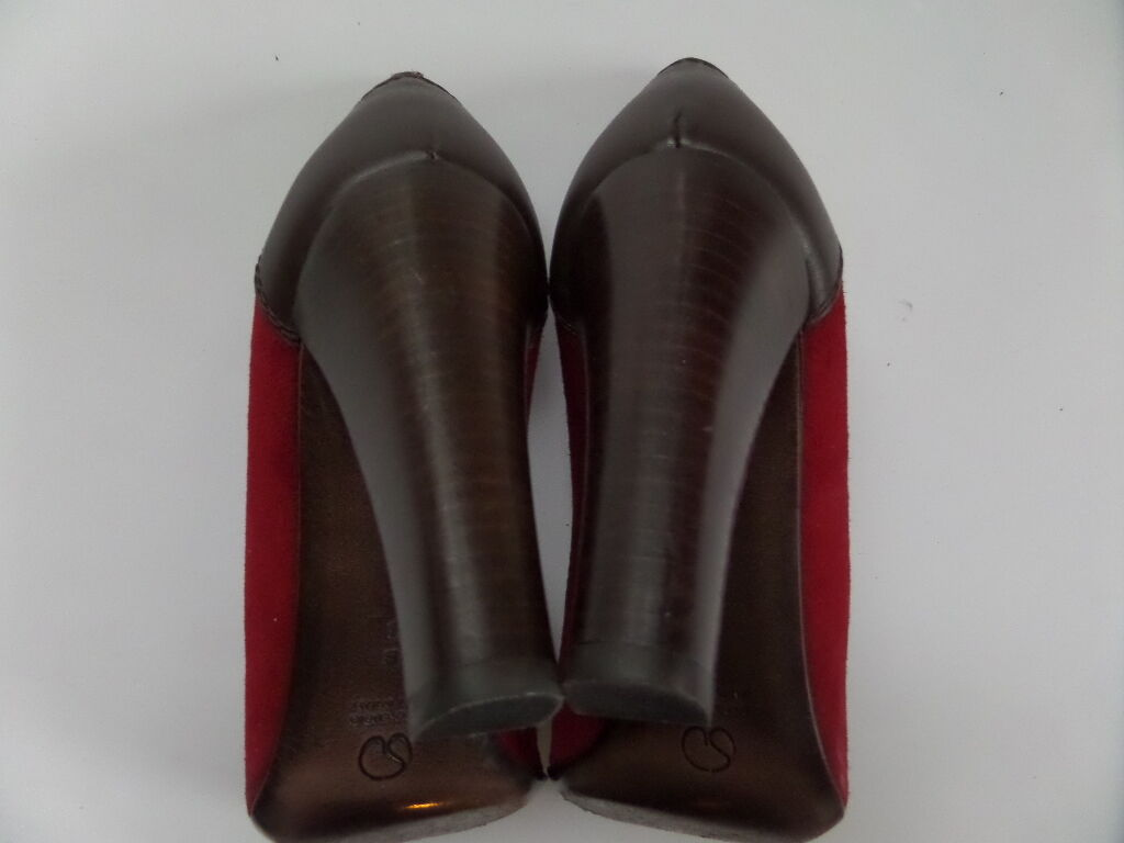 St.John Made Suede/Leder 3.5-in Heels Schuhes Größe-8 B ROT  Made St.John in  Very Good e390bb