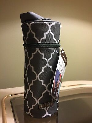 JJ Cole Single Bottle Pod Cooler Insulated J00799 Stone Arbor Dark Grey New
