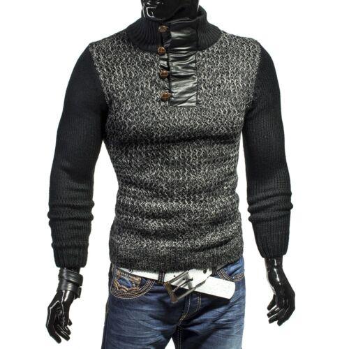 MC Grob lavorazione a maglia pullover cardigan giacca FELPA maglia COLLO Avantgarde