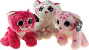 HonnêTeté Peluche Douce 22 Cm Girl's Tiger Plush Toy-rose/blanc-afficher Le Titre D'origine
