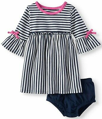 Splendid Baby Girl Dress Bloomers Size 6-12 Months Pink Striped