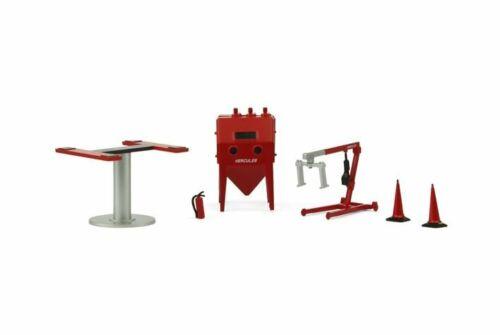 Figure TINY Hong Kong 1//43 Gx4 Garage accessory lift Sandblasting machine etc