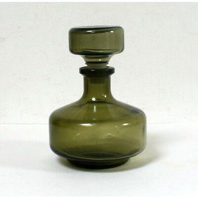 Flacon carafe vintage verre vert