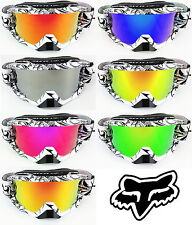 GOGGLE-SHOP FOX AIRSPACE MOTOCROSS MX GOGGLE CHROME MIRROR LENS bmx mtb quad