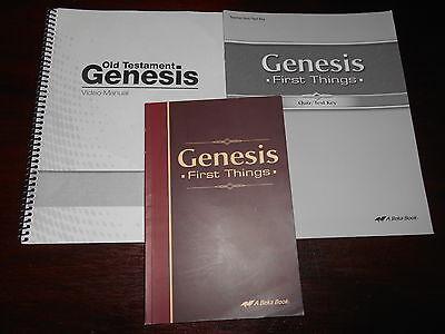 ABeka Bible GENESIS FIRST THINGS Set Textbook bundle homeschooling highschool