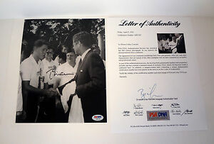 President Bill Clinton Signed Autograph JFK John Kennedy 8x10 Photo PSA/DNA COA