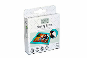 3L Home & Hobby Mounting Squares x500 Self Adhesive 12mm x 13mm