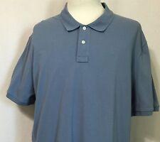 DKNY Mens Blue Polo Shirt 100% Cotton Short Sleeve Size XXL NEW