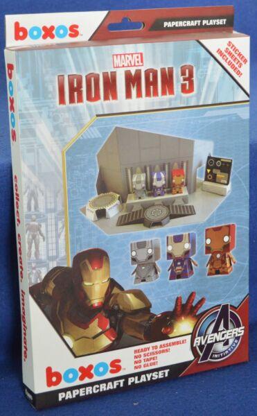 """iron Man 3' Boxos Papercraft ~ 4"" Figure Playset-neuf"