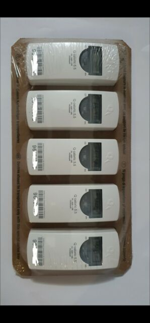 5 x Heizkostenverteiler inkl Röhrchen Montageplatte ohne Verdunster