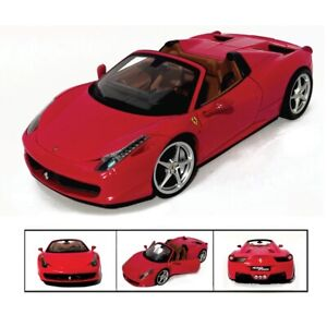 FERRARI-458-SPIDER-RED-1-18-HOTWHEELS-MATTEL-RED-FOUNDATION