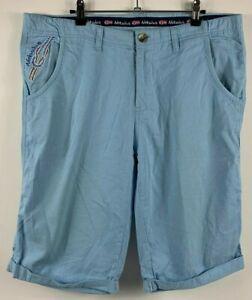 Nebulus-Men-039-s-Chino-Bermuda-Lorens-Boat-Shorts-Size-2XL-Angel-Falls-Blue