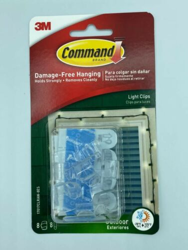 Command Strips 17017CLR-VP Clear Round Command™ Cord Clips 10 Count