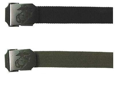 BW Hosengürtel USMC Koppel Stoff Gürtel Stoffgürtel -130cm, 3,5cm schwarz oliv