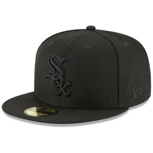 New Era MLB Basic 59FIFTY Fitted Hat - Chicago White Sox (Black on Black)