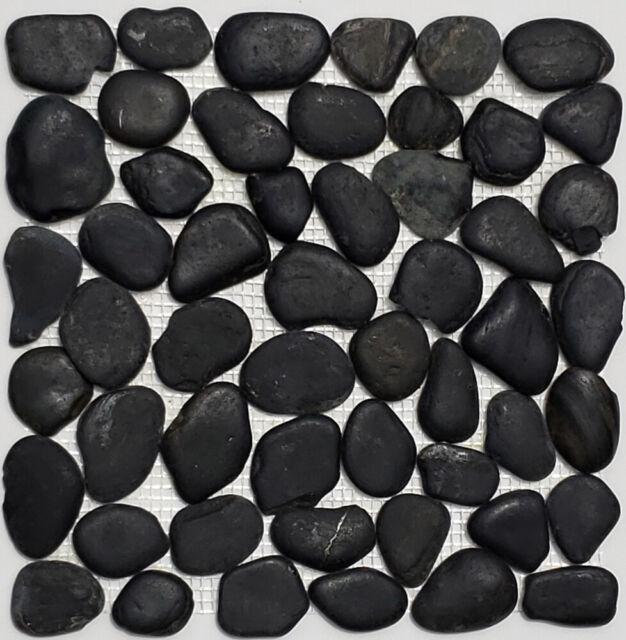 con color blanco mosaico de red mosaico azulejos Kiesel Uni Negro Brillante cer/ámica Drops Pebbles azulejos Espejo de pared Ba/ño o cocina
