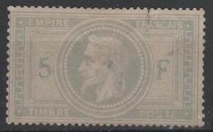 FRANCE-STAMP-TIMBRE-33-034-NAPOLEON-III-5F-VIOLET-GRIS-1867-034-NEUF-A-VOIR-M697