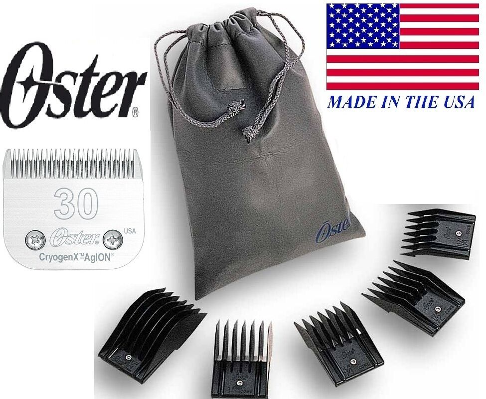 OSTER A5 UNIVERSAL Attachment Guide Comb 5 5 5 pc SET&30 BladeFitMost Andis Clipper 226447