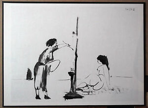 PICASSO-1954-ENGRAVING-w-COA-classic-MUST-HAVE-Pablo-Picasso-Print-VERY-RARE-ART