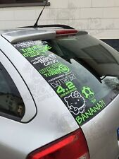 10 Tuning Aufkleber im Set Fun Sticker Shocker Aufkleberset JDM Folie decals
