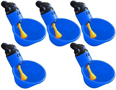 AUTOMATIC WATERER DRINKER CUPS CHICKEN COOP POULTRY CHOOK BIRD TURKEY DRINK 6