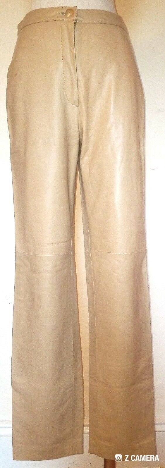 J Crew Tan Butter Soft Leather Pants Size 6 Retails  600 NWT
