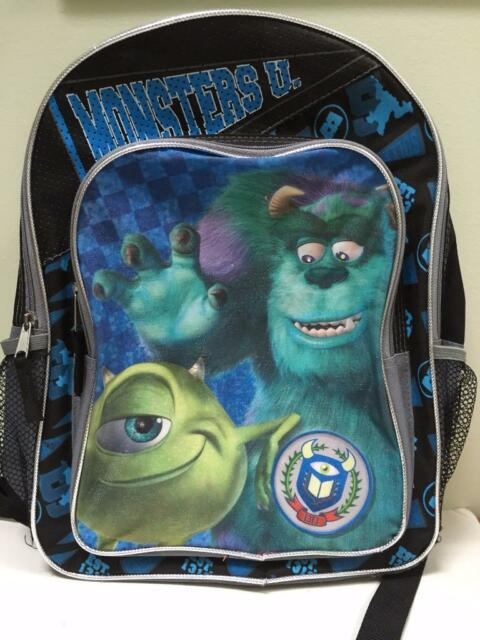 DISNEY Monster U University bookbag 13 x 16 school backpack