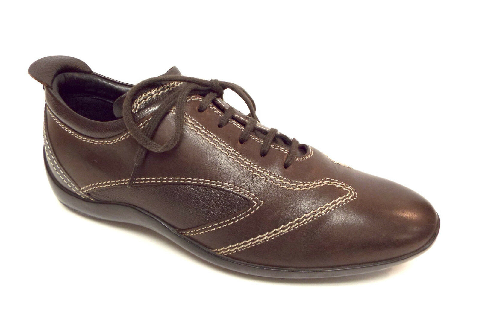 TODS Size 8 Brown Leather Lace Up Sneaker Drivers Oxfords shoes