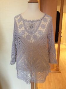 Monari-Top-Size-18-BNWT-Grey-Broderie-Anglaise-RRP-119-Now-54