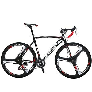 700C Road Bike 21 Speed Complete Bicycle 54cm Disc Brakes Mens bicycle Cycling