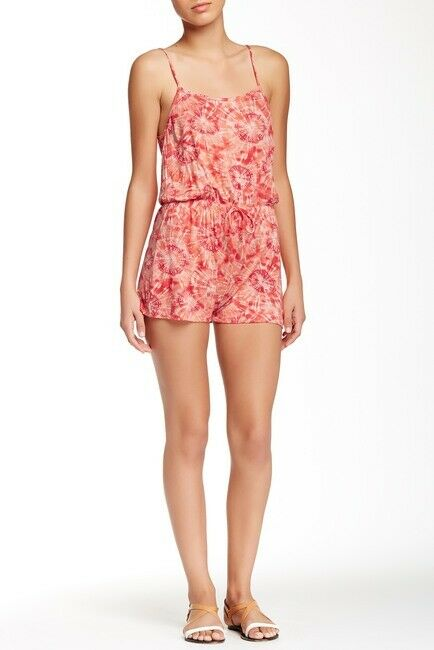 Romeo and Juliet Couture Peach Knit Print Romper Size L NWT  118