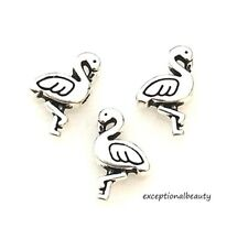 8pcs Tibetan silver two sides bird spacer bead h0817
