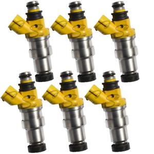 Set of 6 UPGRADE OEM Denso Genuine Fuel Injectors For 1988 Toyota 4Runner 3.0L