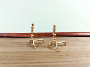 1//12th scale Dolls accessories    Andirons