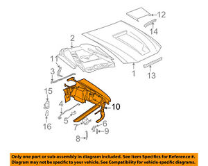 FORD OEM Hood-Latch Lock Release Cable AA5Z16916A