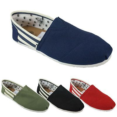 2019 Neuestes Design Mens Di Baggio Striped Summer Elasticated Slip On Espadrilles Plimsoll Shoes Online Shop